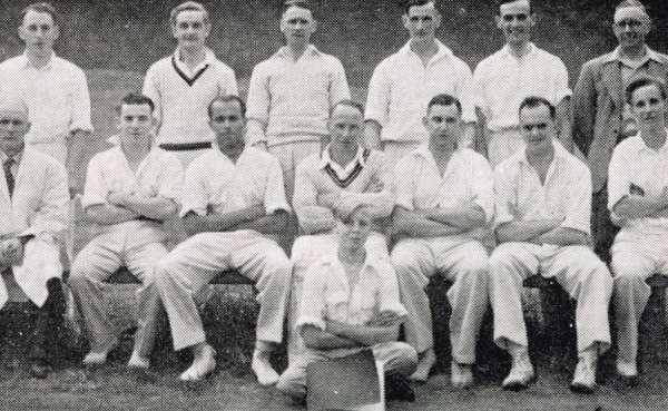 1952 - Back row: G. Poole, W. Bailey, C. Binch, H. Catlin, F. Morley, H. Catlin, A.S. Turton (sec.) - Front row: P. Richardson (umpire), H. Gretton, J.C. Rock, H. Poole, R. Bardill (capt.), B. Rogers, R. Pickering, B. Perkins (scorer).