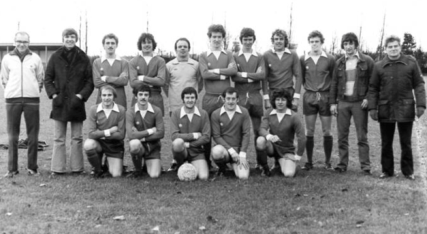 Calverton Rangers 1979 - Back Row: Jack Cranwell (Trainer), Graham Pope, Mark Humphries, Paul Hutchinson, Mick Jackson, Paul Naisbitt, Ian Cairney, Terry O'Brien, John Nester, Dave Bradwell (Manager), George Johnson Front Row: Danny Neill, Pete Horton, Jimmy Black, Tony Christian, Mick Black.