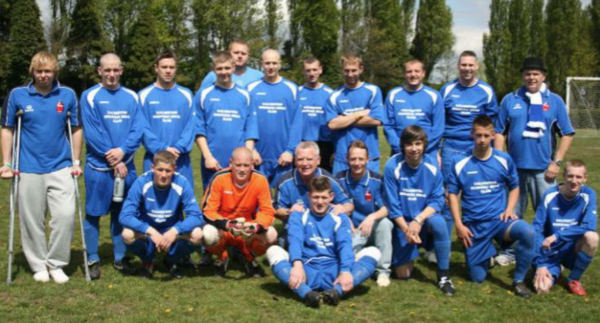 "Charity Match 2010 - In this photo: Scott Dunstan, Liam Dunstan, Timothy Cruz Allen, Luke Allwood, Mark ""Crimp"" Christian, Toby Bowman, Ben Horton, Troy Dunstan, Dave ""Donk"" Carlin, Pike Merrington, Sam Malcolm, Colin Chadbourne, Chris ""Jacko"" Jackson, John Brown and Gareth ""Gazza"" Aiston."