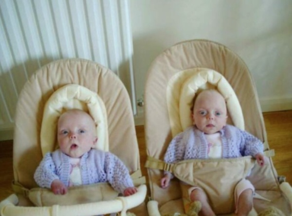 Newly born twins of James & Laura Waldram