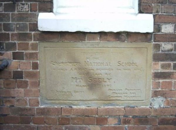 Another foundation stone on the front of the Old National School