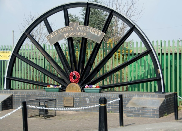 Colliery wheel on Hollinwood Lane