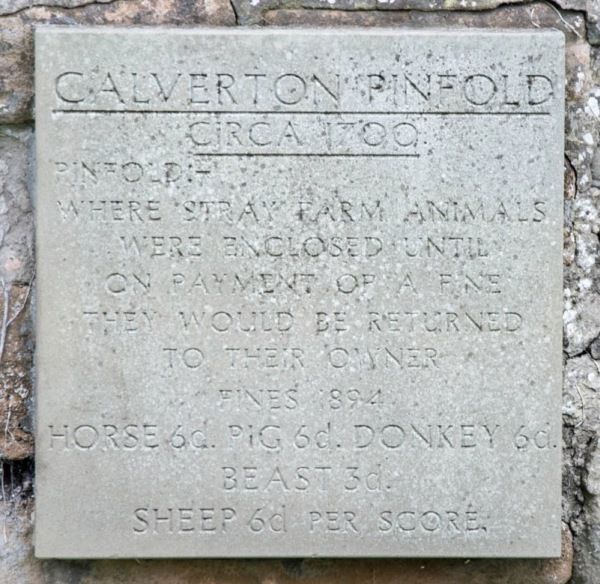 Pinfold Plaque