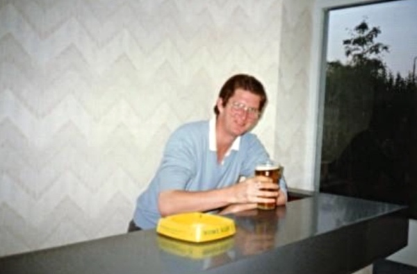 Steve Beardsmore enjoys a pint!